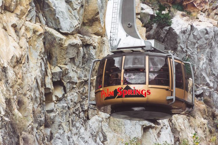 Palm Spings Tram Rock - Object Transportation Outdoors Day No People Tram Aerial Tramway Palm Springs California Mt San Jacinto State Park Cable Car