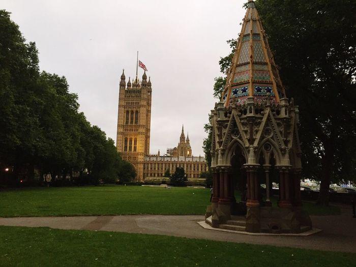 Historical Sights Elizabeth Tower Parliament Building Big Ben Postcode Postcards