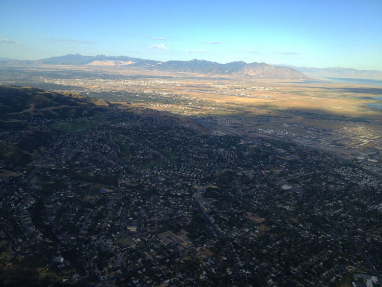Aerial view of North Salt Lake and the valley. Aerial View Cityscape Day Landscape Mountain Residential District Salt Lake City Suburban Landscape Suburbia Utah Wasatch Front