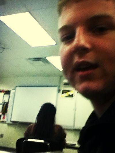 Zach in algebra...talk about a weirdo