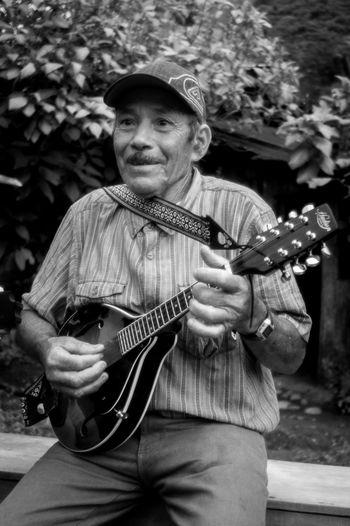 Blackandwhite Photography Jinotega Mandolin Music Musical Instrument Musician Nicaragua Portrait Rural Streetphotography