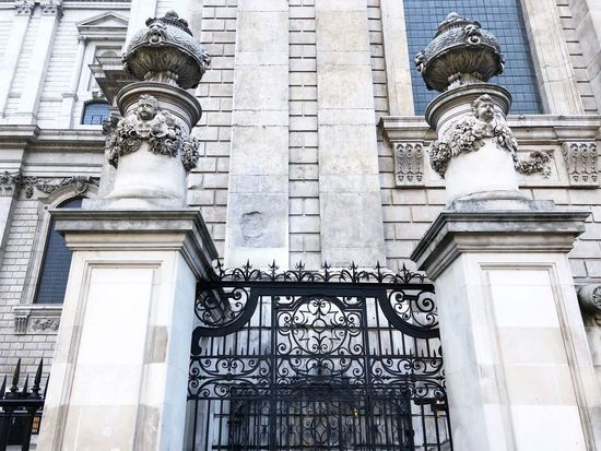 IPhoneography Stone Intricate Detail Black London Cathedral Gate Iron Built Structure Architecture Building Exterior Low Angle View No People Building Day Travel Destinations Travel History City The Past