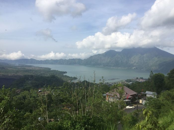 Batur Lake Bali Lake Batur Volcano Batur Lake Cloud - Sky Sky Mountain Water Beauty In Nature Plant Scenics - Nature Non-urban Scene Green Color Lake Nature