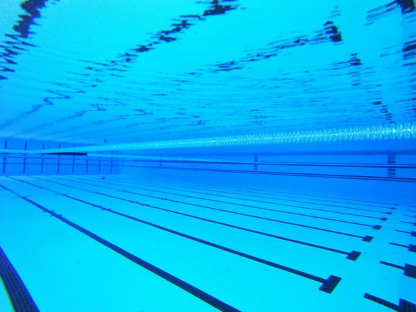 Water Blue Reflection Swimming Lane Marker No People Swimming Pool Underwater Underwaterphotography Competitive Swimming Competitivesports Light And Reflection