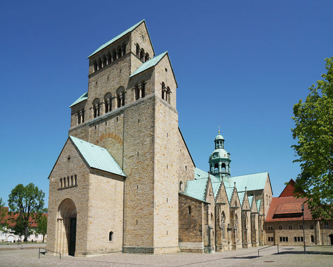 Hildesheim Cathedral Cathedral Church Dom Hildesheim Mariendom Architecture Building Day Hildesheim Cathedral History Medieval No People Place Of Worship Religion Romanesque Spirituality