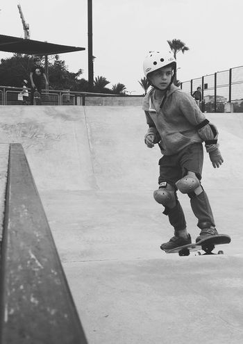 Full Length Children Only Child Childhood Headwear Camouflage Clothing EyeEm Team Finding New Frontiers EyeEm Black And White Black & White Blackandwhite Skate Life Skatepark Skateboard Skatelife Skateboarding Adapted To The City Welcome To Black Out Of The Box Black And White Friday