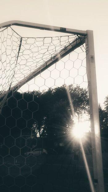 Soccer Net - Sports Equipment Sport Soccer Field Outdoors Goal Post Sky The Great Outdoors - 2017 EyeEm Awards Sunset Sun Sunset_collection BYOPaper!