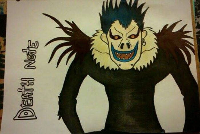 Death Note Anime Ryuk Art