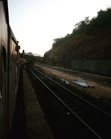 Rail Transportation Outdoors Konkanrailways Konkandiaries Indianrailways Departing