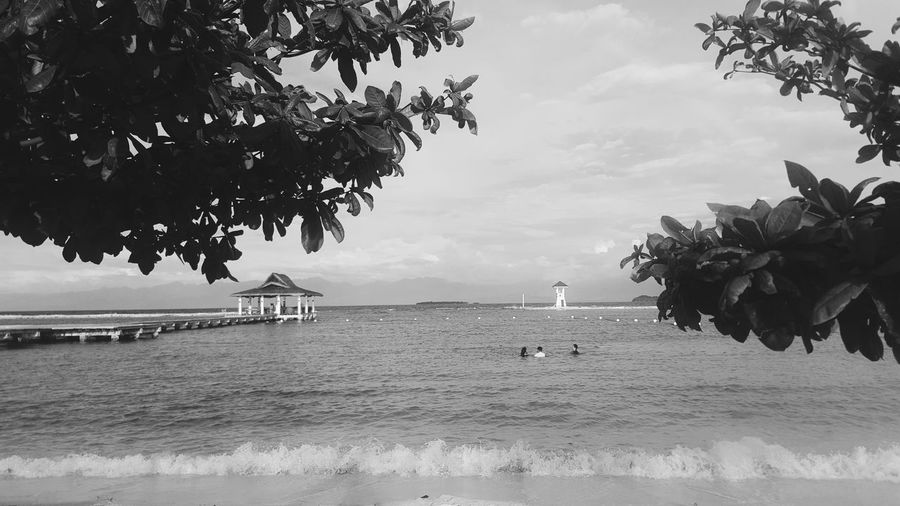 It calls me. Sea Sea And Sky Black And White Photography Blackandwhite Black & White Nature Davao City, Philippines Secdea SecdeaBeachResort Secdeabeachsamal 2017 Outdoors Motion Finding New Frontiers Trees Trees And Sky Trees And Nature EyeEmNewHere