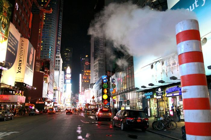 Architecture Night City Built Structure Building Exterior Times Square NYC TimesSquare Busy Street Nightlife Nightphotography Chimney Pots Chimney