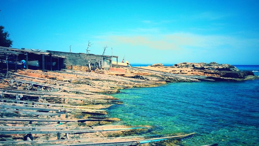 Formentera Old Harbour Shades Of Blue Blue Sky Sky And Sea Vacation Peaceful View Relaxing By The Sea By The Seaside Showcase: February