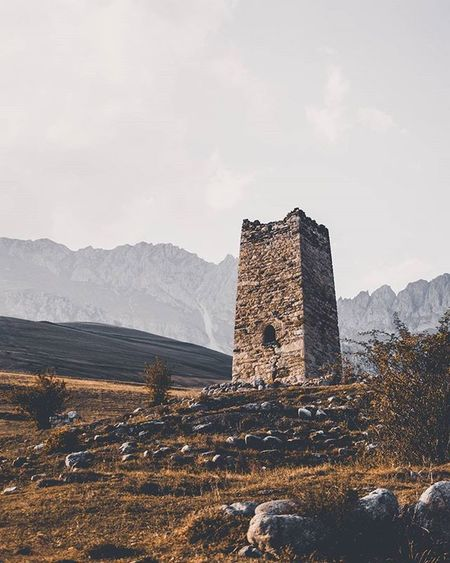 Fiagdon Ossetia ~ Фамильная башня Tower Mashig Natgeolandscape Landscape Nature Mountains Highlandcollective