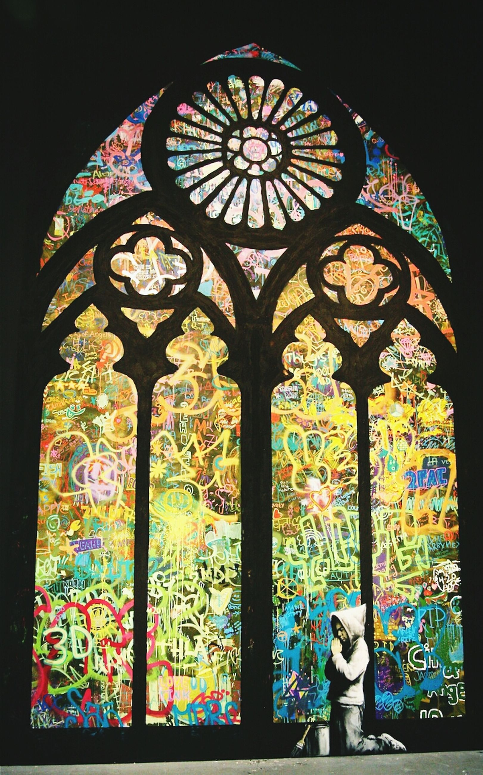 art and craft, art, place of worship, religion, creativity, multi colored, church, spirituality, indoors, human representation, low angle view, stained glass, architecture, built structure, ornate, design