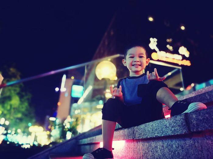 Kid having fu City Child Childhood Halloween Males  Exercising Smiling Happiness Children Preschooler Settlement My Best Photo
