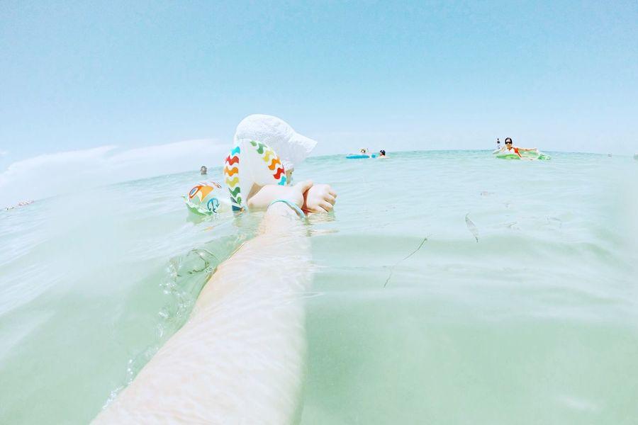 Followmeto Color Palette Ocean Child Water Swimming Sun Outdoors Tropical Fatherhood Moments