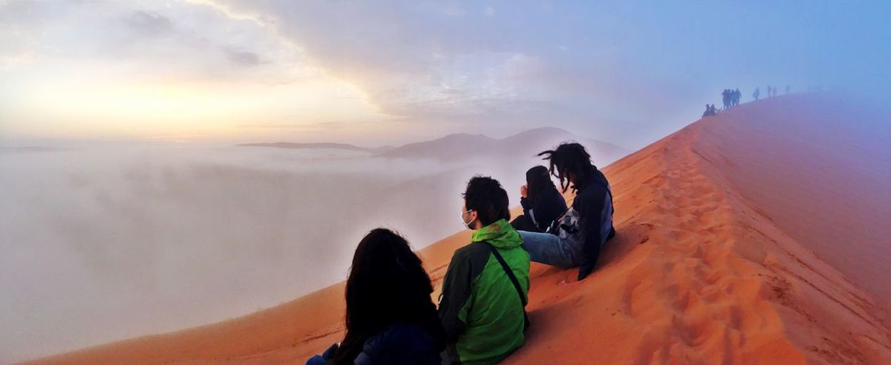 Before Sunrise Above The Clouds Landscape_Collection Sunrise Sunrise_sunsets_aroundworld Dunes Panorama Dune 45 Enjoying The View Freezing Foggy Morning Namibia EyeEm Best Shots Landscapes With WhiteWall People And Places IPhoneography Amazing View Finding New Frontiers Amazing_captures Amazing Place Dawn Dawn Of A New Day Namib Desert ShotOnIphone