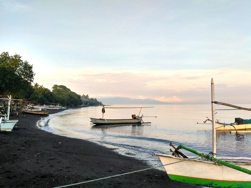 INDONESIA Lovina Beach Beach Outdoors No People Nature Beauty In Nature Sky Morning Morning View Morning Walk Ocean Fisherboat Water Travel EyeEmNewHere