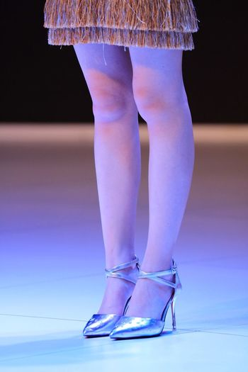 Low Section Human Leg Indoors  Real People Elégance Standing Women Fashion Skill  Human Body Part Arts Culture And Entertainment Ballet One Person Fashion Show Ballet Dancer Close-up Day Adult People