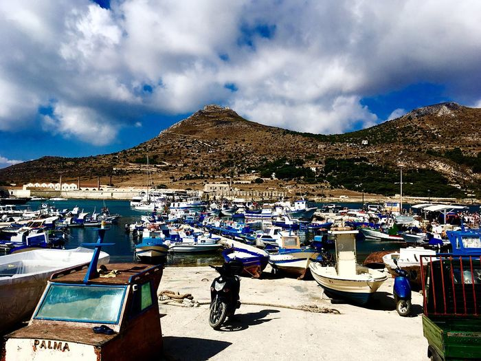 Favignana Summer See Boat Favignana Sicily Mountain Sky Outdoors Cloud - Sky Day Nature Scenics Water No People