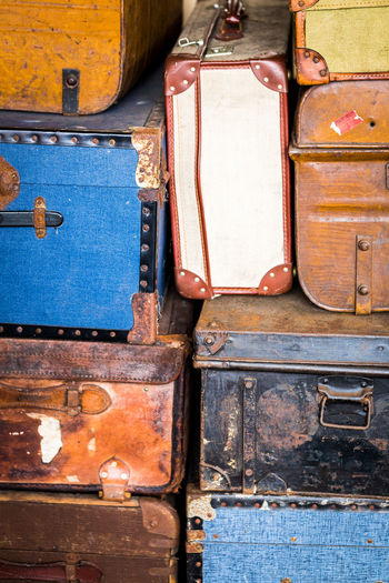 Backgrounds Battered Explore Group Of Objects Holiday Jet Setting Journey Luggage No People, Old Fashioned Old Suitcases Pack Your Bags Retro Retro Styled Suitcase Traveler Traveling Vacation Time Vintage Vintage Luggage