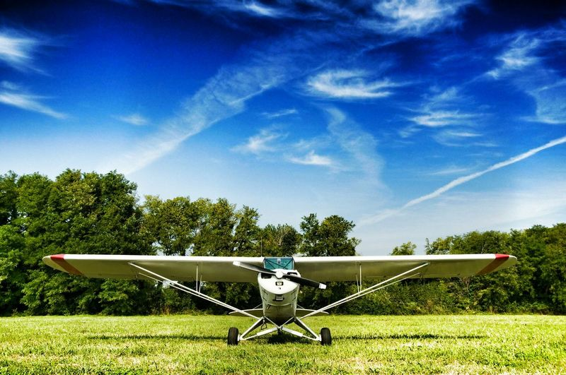prop plane parked in a field EyeEm Best Shots EyeEm Best Edits Prop Plane Planes Airplane AirPlane ✈ Aircraft Aircrafts Aviation Outdoors Finding New Frontiers