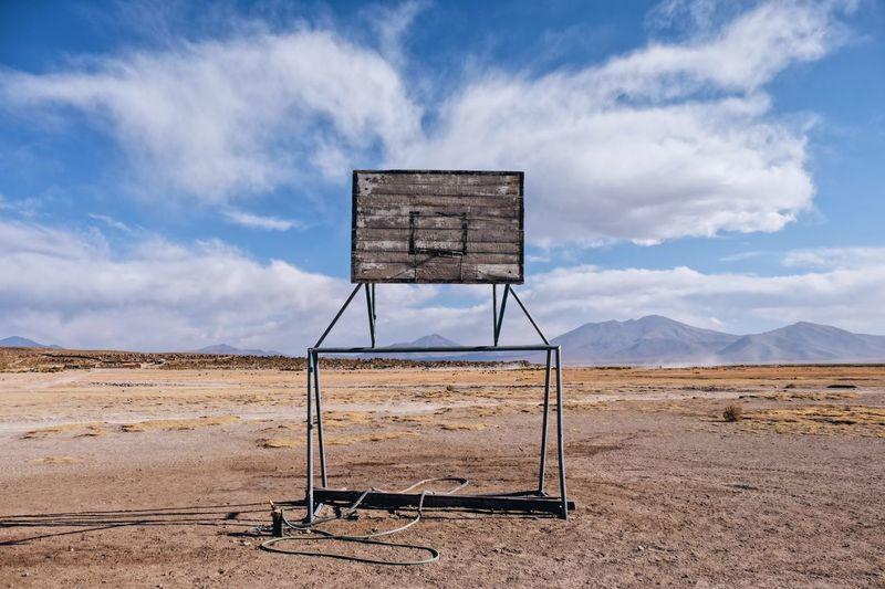Sky Landscape Day Outdoors Sand Cloud - Sky No People Nature Arid Climate Basketball Hoop Bolivia Sport Desert Basketball World Cup 2018