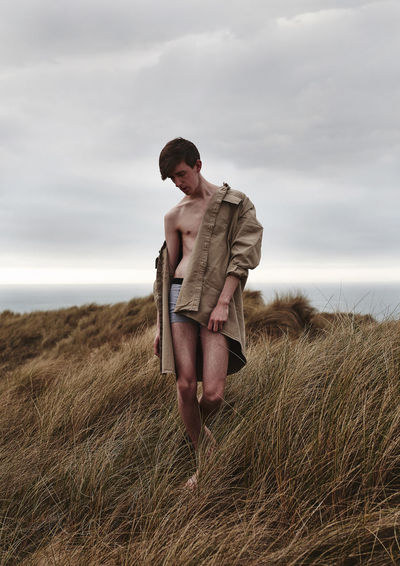 My photographic series, 'Overbearing Virtues', is a personal investigation which confronts the pressures implemented on representations of the male by my own struggle with body insecurities, as well as my interest in conceptions of identity and social standards, this series explores my relationship with traditional ideologies of masculinity, a gendered stereotype that has pervasively remained within western culture and the 21st century. By turning the camera onto myself, I have revealed my most vulnerable side, performing with my slender figure to challenge the dominant representations of the manly a society that may and can dehumanise those who don't fit into social expectations, 'Overbearing Virtues' dismantles those distinctive depictions in the hopes of empowering others to embrace their insecurities and tackle their boundaries in the journey towards self-acceptance. Insecurities Masculinity Mens Mental Health Natural Photo Series Self Portraiture The Portraitist - 2018 EyeEm Awards Boundaries Conceptual Conceptual Photography  Mental Health  Nature Portrait Portrait Photography Project Self Love Self Portrait Toxic Masculinity Vulnerability  EyeEmNewHere The Creative - 2018 EyeEm Awards