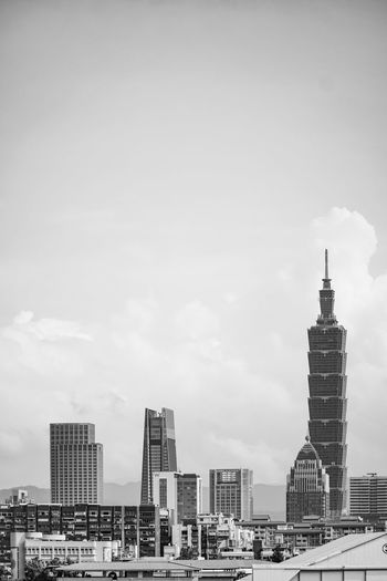 city Sky And Clouds Taipei 101 Taipei City See What I See Design Black And White EyeEm Black&white! Eyeem Black And White Black & White Somewhere I Remember Lines Light And Shadow Lines And Shapes Lifestyles Life Corner Colors Dreaming Take Photos Art Goodday Heaven Amazing View Downtown District Architecture Building Exterior Built Structure Tall - High Office Building Building Story