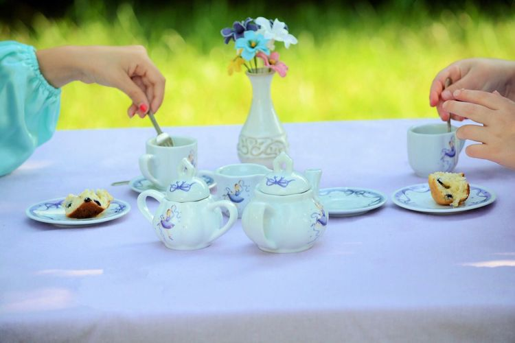 Pretendplay Mixtea Food And Drink Plate Real People Human Hand Table Saucer Sweet Food Tea - Hot Drink Dessert Holding Cake Teapot One Person Refreshment Freshness Celebration Drink Food Teaparty Princess LoveLife 😀😀 Mix Yourself A Good Time