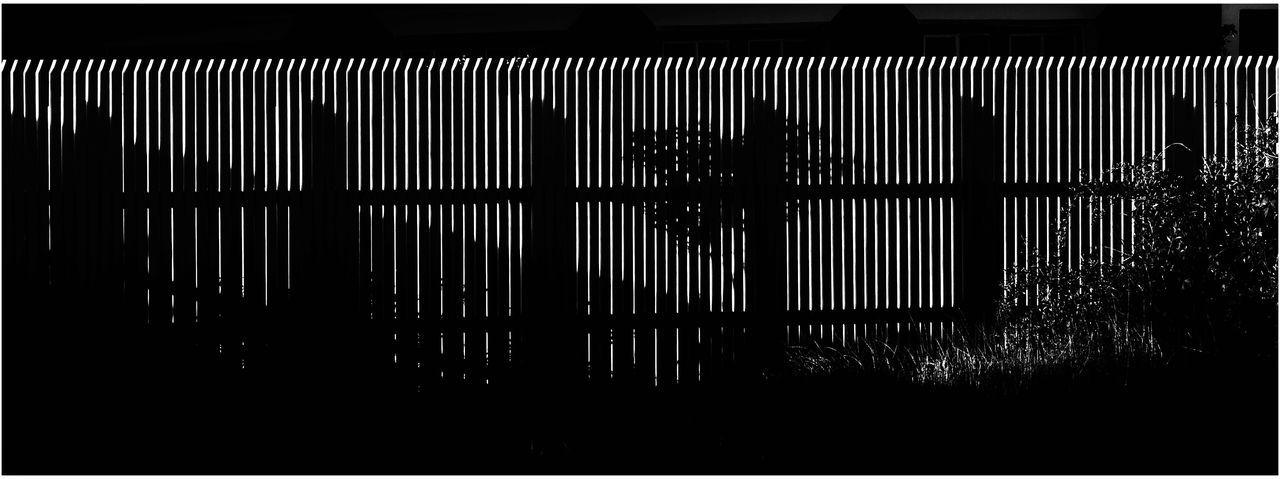 Shadow Games Fences Shadows Gegenlichtaufnahme Black And White Art Danmark Nordby