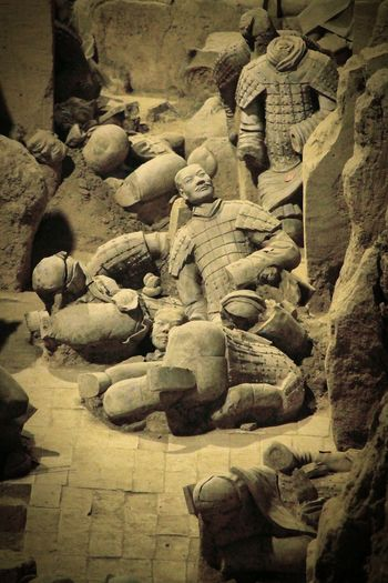 Xian China Is a Historical City ,the Famous Place is Terracotta Army .before Thousand Years Ago ,a King still Wanted to Control everything Past Death. Here the Time just Stops in qin Dynasty ...... Old Broken Statue LongTimeAgo  China Chinese China Photos Chinese Style