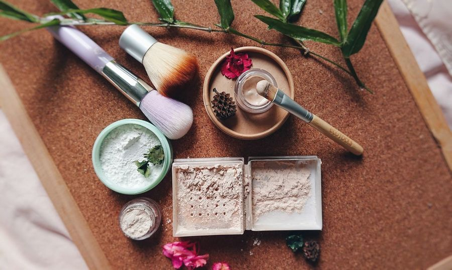 white clay. EyeEm Selects Loose Powder Soft Clay Brush White Clay Clay Cosmetics Make Up Wood - Material Wood Brush High Angle View Day Indoors  No People Directly Above Table Close-up