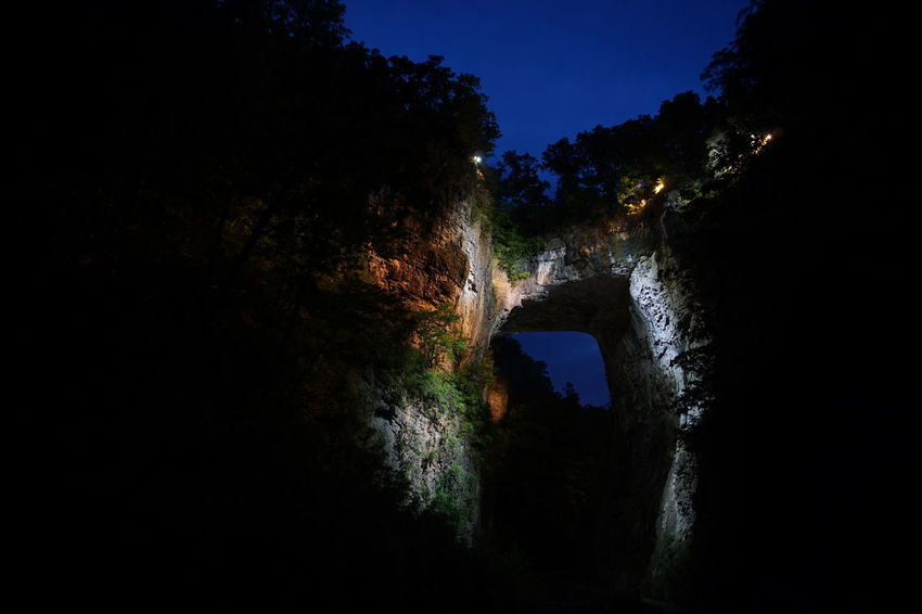 Natural Bridge Light And Shadow Light In The Darkness Night Lights Bridge Natural Bridge  EyeEm Nature Lover Nature Night Photography