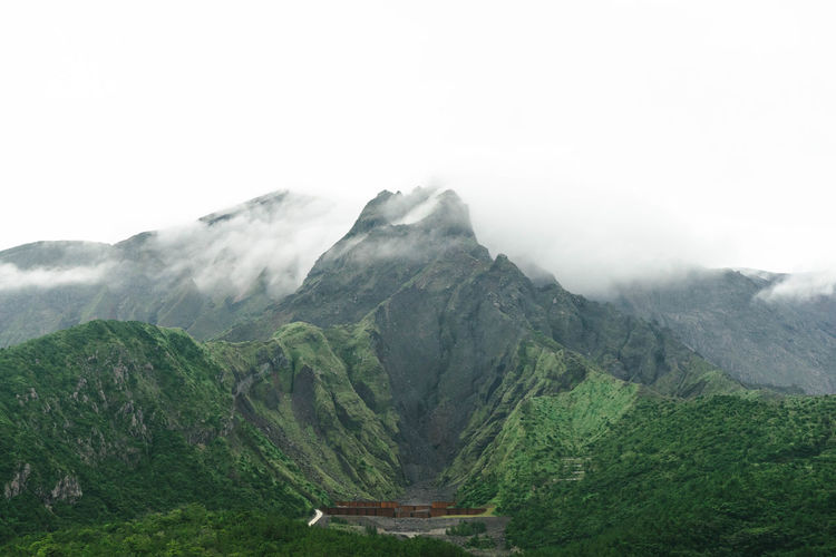 Sakurajima, an active composite volcano in kagoshima, kyushu, japan. called cherry blossom island.