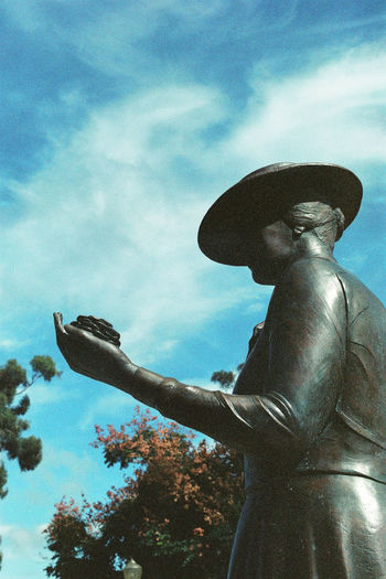 Analogue Photography California Hat Ishootfilm Lady Mother San Diego Trees Woman Analog Balboa Park Blue Sky Cloud - Sky Day Film Photography Filmisnotdead Flower Human Hand Kate Sessions Outdoors Sculpture Sky Statue