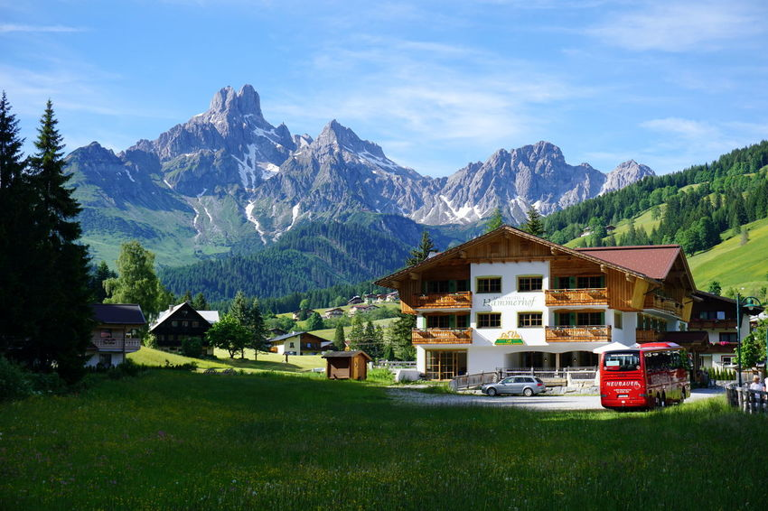 Made during my vacation in Filzmoos (Austria) Austria Grass Bus Filzmoos Hotel Mountains Summer Vacation First Eyeem Photo