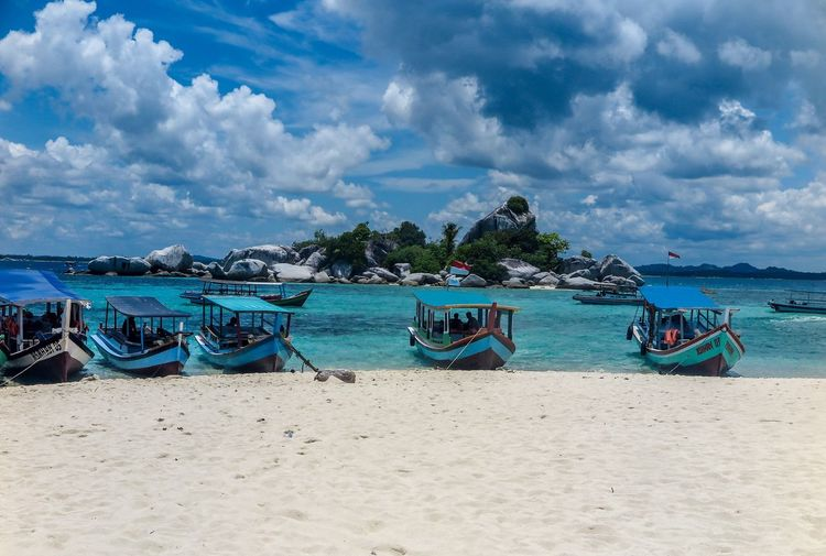 Belitung Beach Sea Cloud - Sky Sky Nautical Vessel First Eyeem Photo