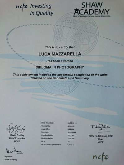 My Photography Diploma Happy AWARD Hello World London Diploma Eeyem Photography Moments Of My Life @ 私の人生の瞬間。