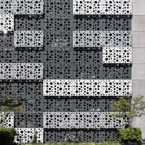 Pattern No People Repetition Architecture Built Structure Backgrounds Day Full Frame Geometric Shape Shape Design Wall - Building Feature Building Exterior Outdoors Bycicle Mode Of Transportation