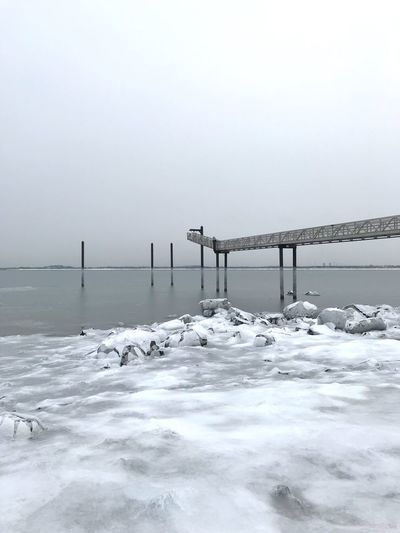 Ice Shore New England  Sky Water Cold Temperature Snow Beauty In Nature Winter Nature