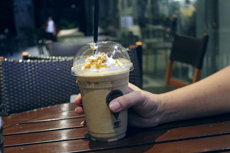 Dessert Drink Focus On Foreground Food Food And Drink Freshness Glass Hand Holding Human Body Part Human Hand Indulgence Leisure Activity Lifestyles One Person Real People Refreshment Sweet Sweet Food Table Temptation