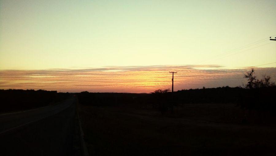 lindoooo Sunset Silhouette No People Landscape Scenics Sky Nature