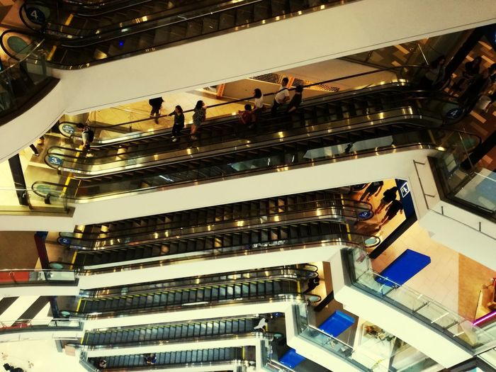 #supermall #urban #escalator Arts Culture And Entertainment Large Group Of People Technology People
