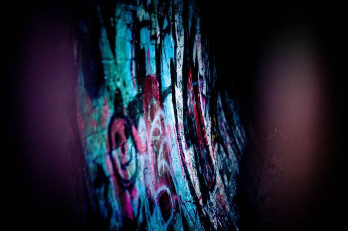 Graffiti Multi Colored Close-up Black Background Indoors  No People Day Tunnel Graffiti ArtWork Abandoned Places Bridgnorth Canonphotography Artistic Colours Vibrant Color Outdoors Isolated Practicing Lovephotography