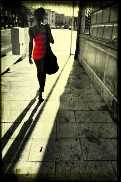 Walking on sunshine Streetphotography Colorsplash Blackandwhite