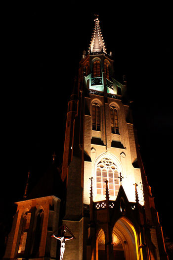Architecture Canon 18-55 Canon 450D Church Low Angle View Night Outdoors Religion Spirituality