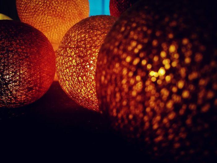 Cottonlightballs Christmas Decoration Illuminated Celebration Christmas Close-up Fairy Lights Lantern Light