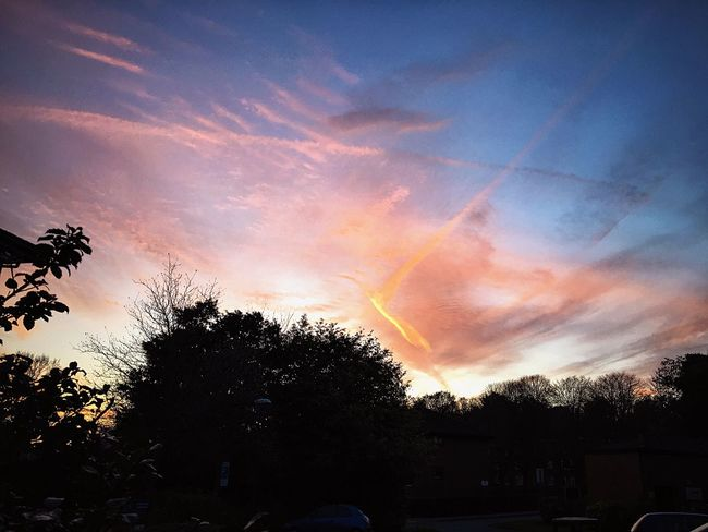 Sunset Sky And Clouds Sky Sunsetcolors Orange Sky Trees Nature NaturalBeauty Skylovers Photography