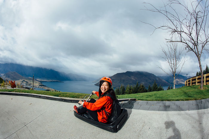 Adventures Happiness Happy Luge Track Skyline The Remarkables Travel Cloud - Sky Extreme Adventures Extreme Sports Lake Wakatipu Laugh Leisure Activity Lifestyles Luge Luge Ride Mountain Mountain Range New Zealand Outdoors People Queenstown Skyline Queenstown Smile Sports Done That. Been There. Connected By Travel